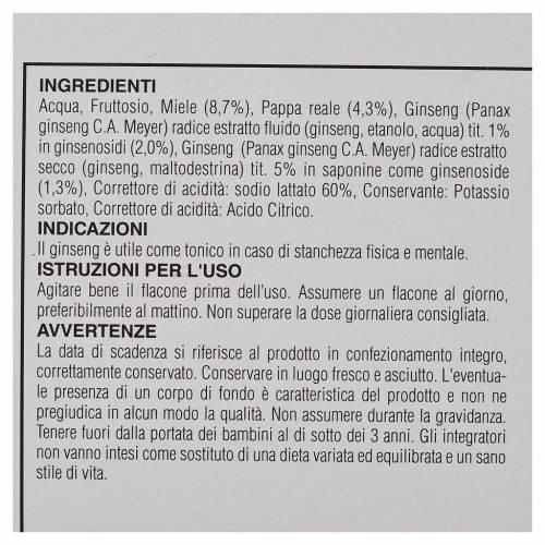 Complément alimentaire ampoules miel gelée royale ginseng Camaldoli s3