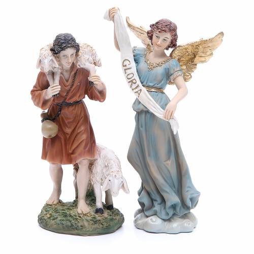 Complete nativity set in resin, 8 figurines 21cm s5