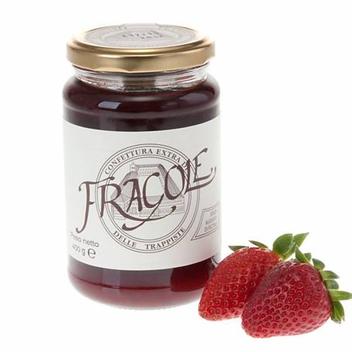 Confiture extra fraises 400 gr Trappistines Vitorchiano s1