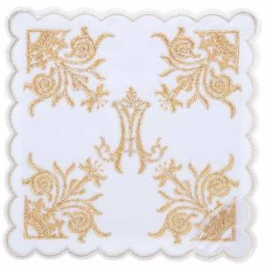 Conjuntos de Altar: Conjuto de altar 4 pz dorado símbolo Mariano lirios
