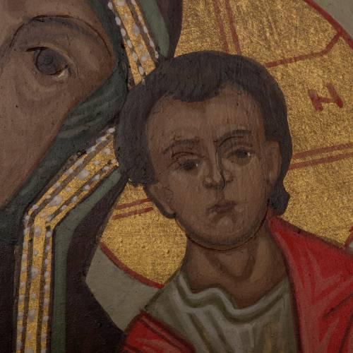Ícono Virgen de Kazan 20x15 cm Rusia s4