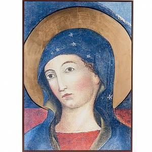Íconos estampados madera y piedra: Ícono Virgen del Pozo