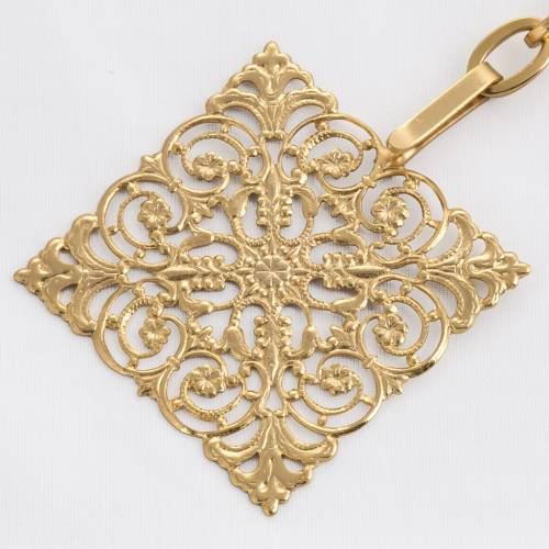 Cope clasp, gold-plated brass, square s2