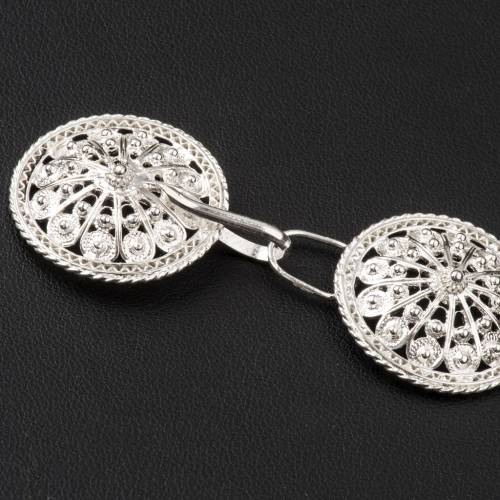 Cope Clasp in silver 800 filigree, round shaped s3