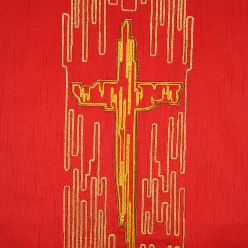 Coprileggio shantung croce stilizzata dorata s2