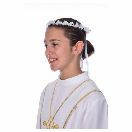 Corona floral para vestido de la Primera Comunión s1