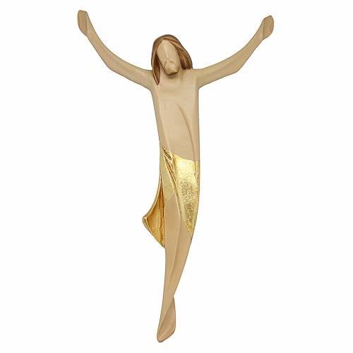 Corpo di Cristo moderno legno d'acero drappo oro s1