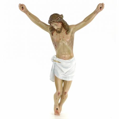 Corpo di Cristo morto 50 cm pasta di legno dec. elegante s1