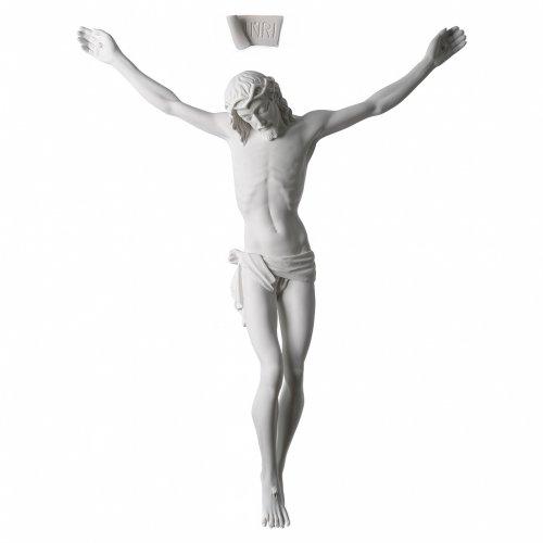 Corps de Jésus Christ marbre blanc reconstitué 60cm s1
