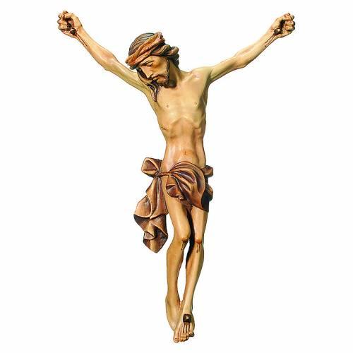 Corps du Christ bois peint finition marron s1