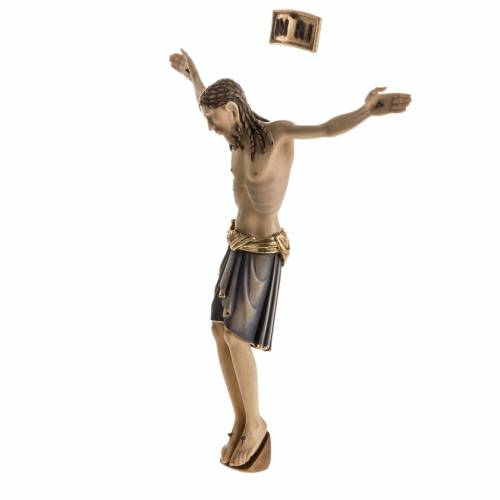 Corps du Christ St Damien bois peint Val Gardena s8