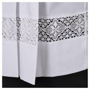 Cotta bianca 100% poliestere tramezzo merletto 4 piegoni s5