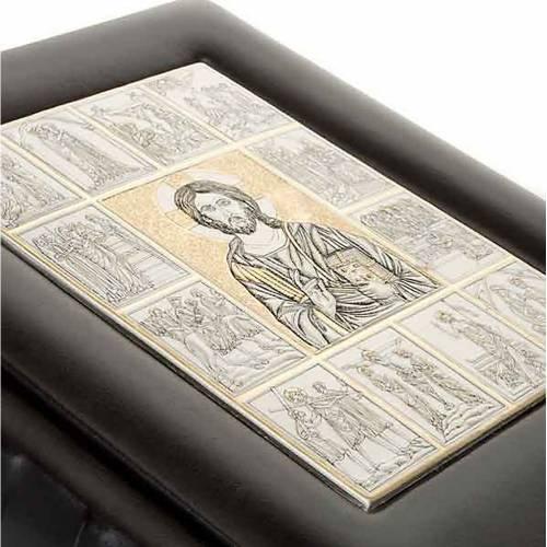 Couverture Bible plaque Jésus s4
