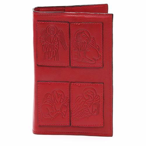 Couverture Lit. Heures 4 vol. Évangélistes cuir rouge s1