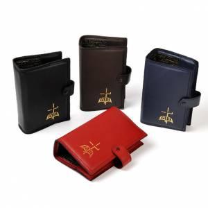 Couvertures liturgie des heures vol. unique: Couverture vol. unique, cuir, bleu, livre or