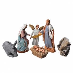 Crèche Moranduzzo: Crèche Moranduzzo 6,5cm, lot de 6 santons