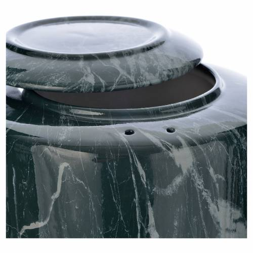 Cremation urn in ceramic Green Alpine model s2