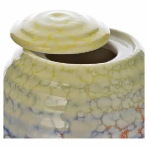 Cremation urn in ceramic Murano Colors model s2