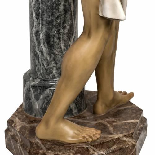 Cristo alla colonna 180 cm pasta di legno dec. anticata s14