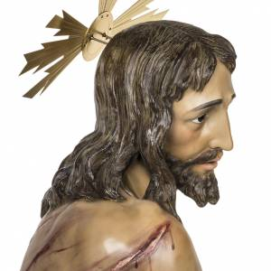 Cristo alla colonna 180 cm pasta di legno dec. anticata s8