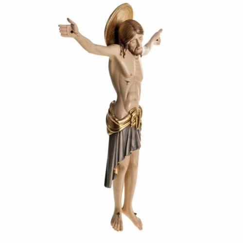 Cristo de madera pintado Cimabue Val Gardena s6