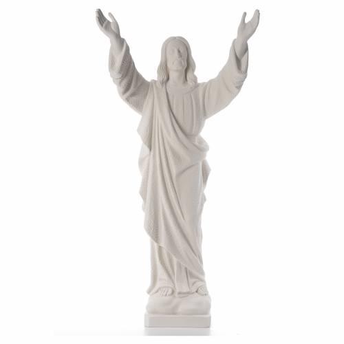 Cristo Redentore polvere marmo di Carrara s1