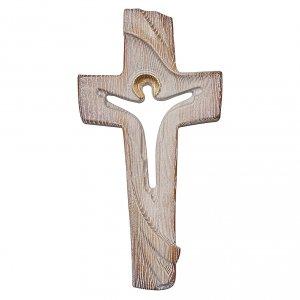 Croce ambiente Design Rustico Risorto legno frassino Valgardena s1