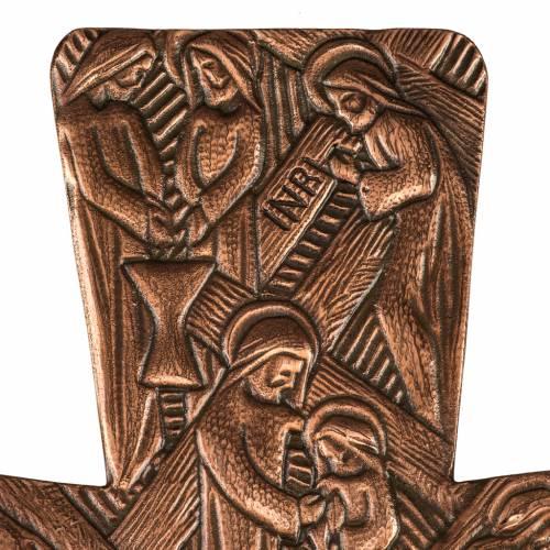 Croce astile in bronzo immagini Via Crucis s3