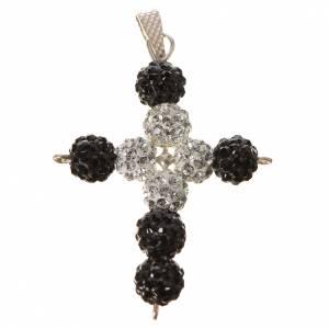 Pendenti, croci, spille, catenelle: Croce con perle Swarovski  3x3,5 cm