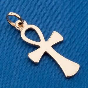 Croce della vita pendente oro 750/00 - gr 1,10 s3