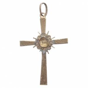 Croce dorata e raggiera Argento 800 s2