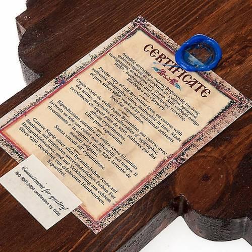 Croce icona ortodossa legno argento s2