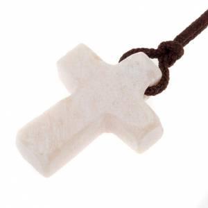 Pendente Medjugorje pietra bianca s1