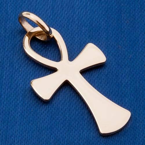 Croce della vita pendente oro 750/00 - gr 2,00 s3