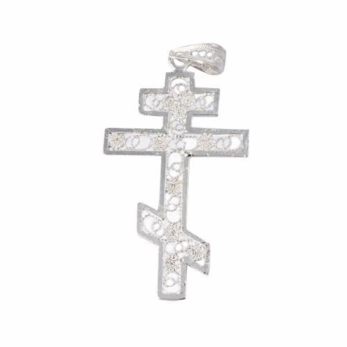 Croce ortodossa Arg. 800 filigrana s1