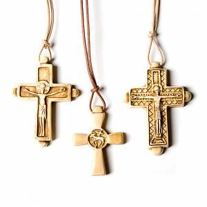 Pendenti croce ceramica: Croce pendente color avorio