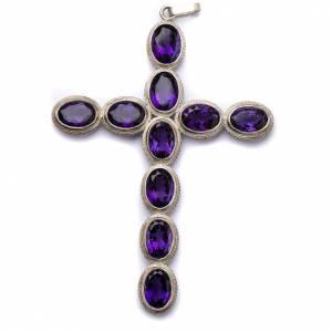 Articoli vescovili: Croce pettorale ametista e argento 800