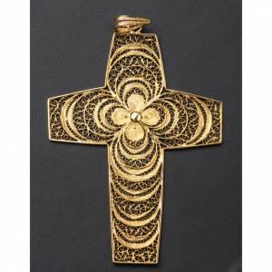 Croce pettorale in filigrana arg. 800 s4