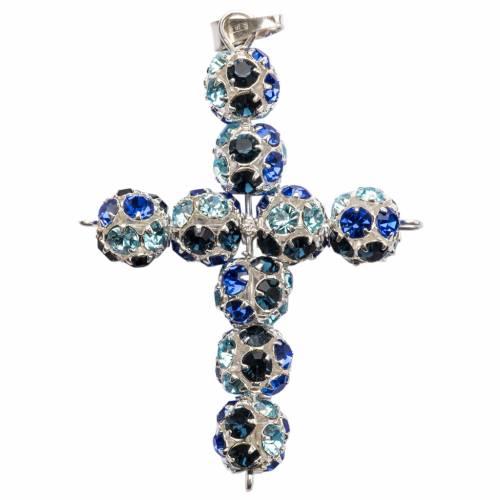Croce Strass multicolor blu 8 mm s1