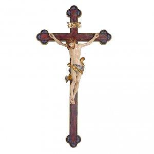 Crocefisso Leonardo oro zecchino croce barocca oro s1