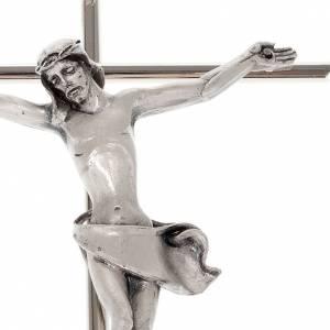 Crocefisso metallo classico croce dritta s3