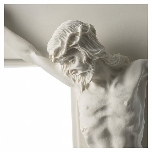 Crocifisso in marmo sintetico 60 cm s2