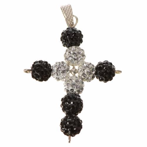 Croix avec perles Swarovski 3.5x3 cm s1