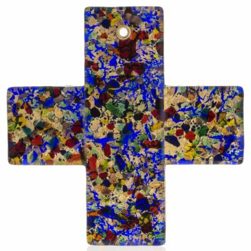Croix en verre de Murano 12x12 cm s1