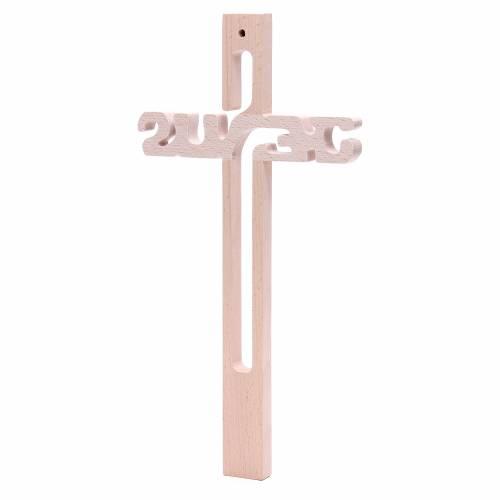 Croix Jésus Medjugorje en hêtre s3