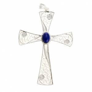 Cross pendant, 800 silver, lapislazzuli 5,47g s1
