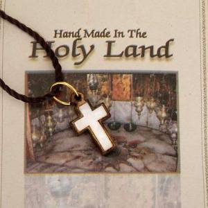 Cross pendant in Holy Lady wood and mother of pearl s3