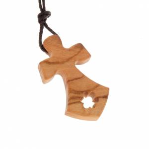 Wooden cross pendants: Cross pendant with star pierced