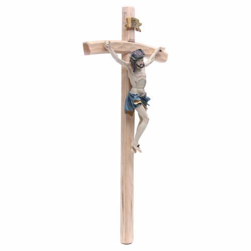 Crucifijo 55 cm resina y madera s3