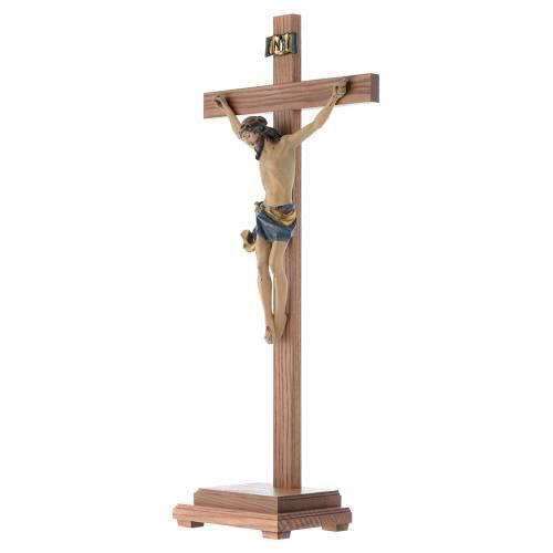 Crucifix à poser bois Ancien Or mod. Corpus s2